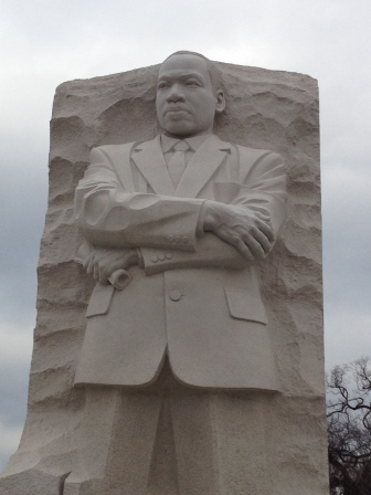 MLK standing tall in history